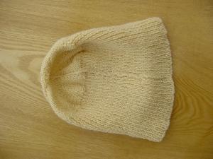 Hat showing seam